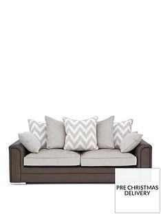 sansanbspfaux-snakeskin-and-fabric-3-seater-scatter-back-sofa
