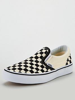 vans-checkerboard-classic-slip-on-plimsolls-blackwhite
