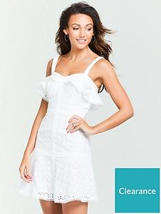 michelle-keegan-schiffli-mini-dress-ivory