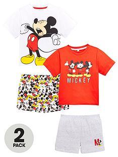 525fe9295 Mickey Mouse Boys 2pk Shorty Pyjamas