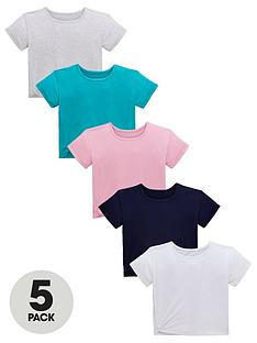 bbbc2d74ed V by Very Girls 5 Pack Twist Side Jersey Tops - Multi