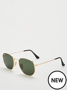 ray-ban-rayban-hexagonal-gold-sunglasses