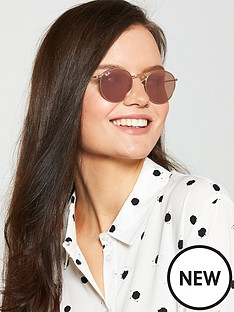 ray-ban-round-metal-sunglasses-shiny-gold
