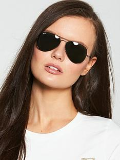 ray-ban-aviator-slim-metal-sunglasses-black