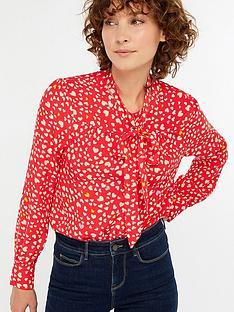 monsoon-simone-heart-print-blouse-rednbsp