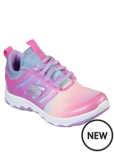 skechers-girls-diamond-runner-sparkle-mesh-trainers-neon-pinkmulti