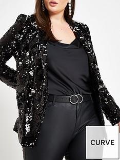 ri-plus-velvet-sequin-jacket-black