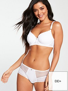 855ea921f1071 Freya Daisy Lace Underwired Padded Half Cup Bra - White