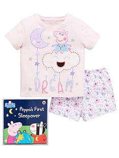 peppa-pig-girls-dream-shorty-pyjamas-with-book-pink