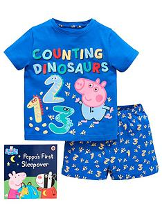 george-pig-boys-shorty-pyjamas-with-book