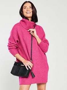 river-island-river-island-oversize-jumper-dress-pink
