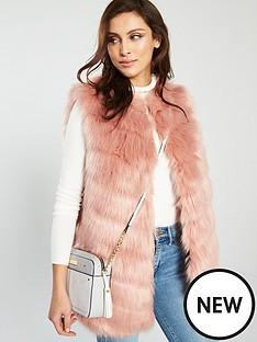 river-island-faux-fur-gilet-pink