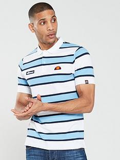 ellesse-marono-striped-polo