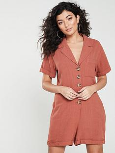 native-youth-knowles-rivere-collar-romper-peach