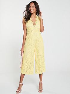 u-collection-forever-unique-scallop-neck-lace-jumpsuit-yellow