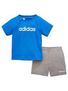 adidas-baby-boy-2-piece-i-linear-short-and-t-shirt-set-blue