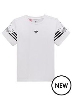 a0fd522d0e80 adidas Originals Boys Outline T-Shirt - White