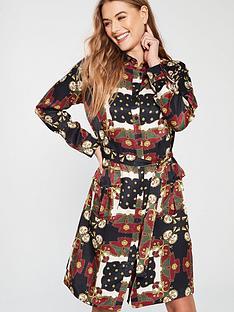 28bb61c37632c3 V by Very Chain Print Luxe Shirt Dress - Print