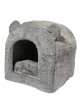 rosewood-grey-teddy-bear-cat-bed