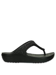 crocs-sloane-embellished-wedge-flip-flop