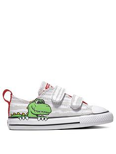 7130fb76f7a3 Converse Converse Chuck Taylor All Star 2V Dinosaur Infant Ox