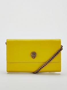 kurt-geiger-london-london-kensingtonnbspchain-wallet-bag-yellow