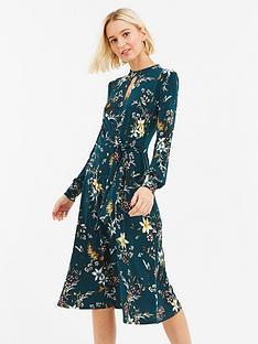 oasis-winter-jasmine-tie-side-choker-midi-dress-greennbsp