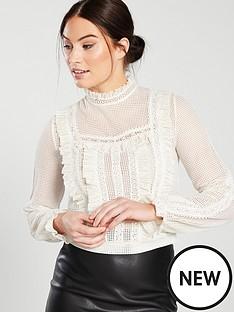 miss-selfridge-victorian-lace-blouse