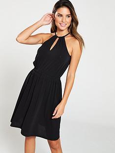 93698f0bac2d V by Very Halter Neck Jersey Dress