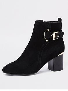 river-island-river-island-buckle-detail-ankle-boot-black