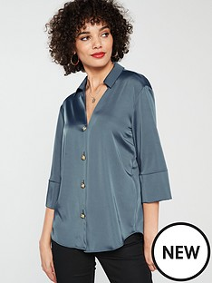 river-island-river-island-button-front-satin-blouse-blue