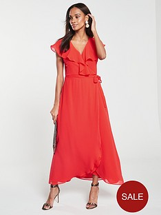 vero-moda-vida-ruffle-wrap-midi-dress-red