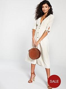 vero-moda-mila-button-down-midi-dress