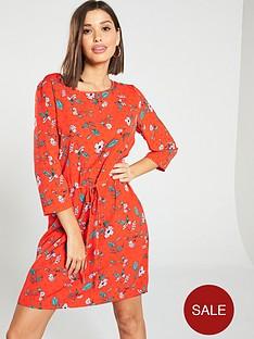 vero-moda-ava-floral-printed-shift-dress-red