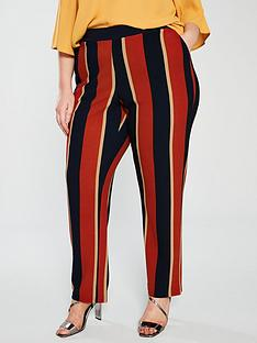 junarose-daisi-stripe-pants-red