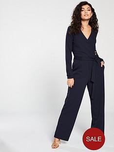 vero-moda-long-sleeve-jumpsuitnbspwith-button-detailing-navy