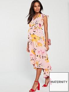 mama-licious-mamalicious-maternity-bell-woven-midi-dress