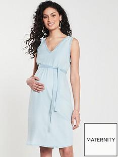 mama-licious-maternity-adora-woven-dress-blue