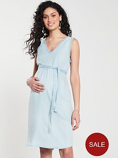 mama-licious-maternity-adora-woven-dress-blue