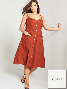 8b953c7ca1 JUNAROSE Lobe Strappy Midi Dress - Brown