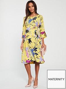 mama-licious-mamalicious-kassandra-34-woven-maternity-dress