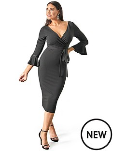 sistaglam-loves-jessica-fluted-sleeve-bodycon-wrap-dress-blacknbsp