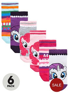 my-little-pony-my-little-pony-girls-trainer-liner-6pk-socks