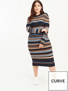 oasis-curve-joanna-knitted-stripe-dress