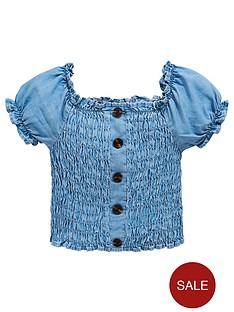 v-by-very-girls-denim-bardot-top-blue