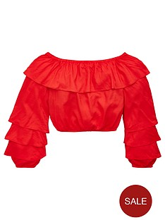 v-by-very-girls-ruffle-bardotnbsptop-red