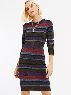 oasis-simone-stripe-lurex-knitted-dress-multinbsp