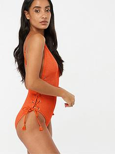 accessorize-ladder-side-swimsuit-orange