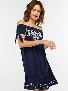 accessorize-indi-embroidered-off-shoulder-dress-navynbsp