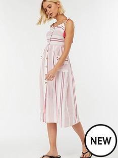 accessorize-stripe-midi-dress-red